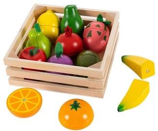 Rotaļu augļu komplekts EcoToys Wooden Chopping Magnet Fruits