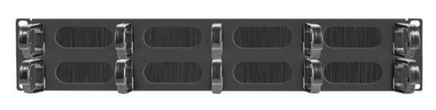 Lanberg 19'' Cable Management with Brush 2U Black
