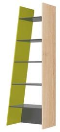Plaukts Szynaka Meble Wow 02 Graphite/Oak/Green