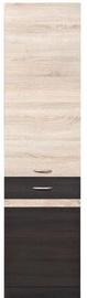 Black Red White Kitchen Bottom Cabinet Left Junona Line D2D/50/195L Wenge/Sonoma Oak