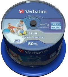 Verbatim BD-R Printable 25GB 6x 50pcs