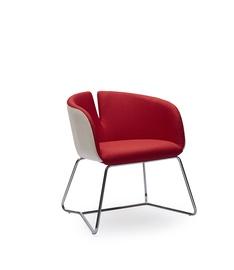 Fotelis Pivot,  raudonas/baltas