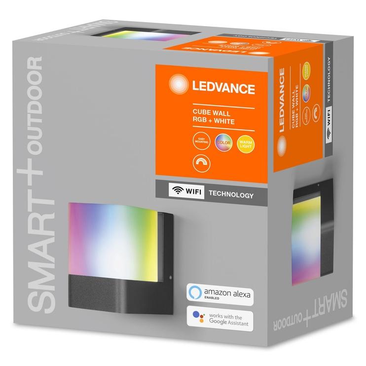 Светильник Ledvance CUBE 4058075478114, 1x10Вт, 3000-6500°К, LED, IP44, серый