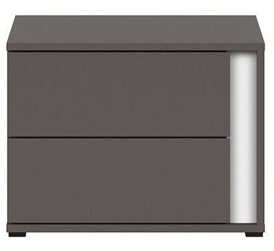 Black Red White Graphic Night Stand Right Wolfram Grey
