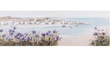 Fotopilt Home4you Beach/Purple Flowers, 1500 mm x 500 mm