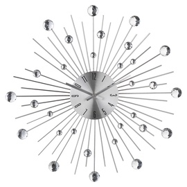 Atmosphera Wall Clock Rhinestone In Metal D50cm 130322