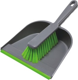 York Dustpan With Rubber Lip And Brush 000050100733
