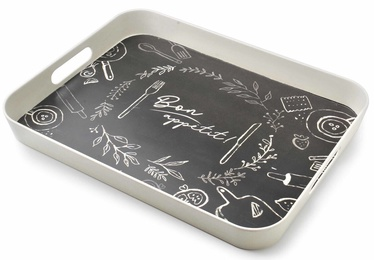 Mondex Bon Apetit Bamboo Decorative Tray Black