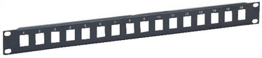 Intellinet Blank 16-Port Panel For Keystone Jack 1U 19'' Black