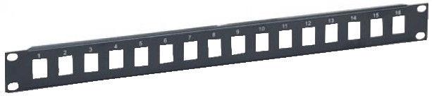 Intellinet Blank 16-Port Panel For Keystone Jack 1U 19'' Black
