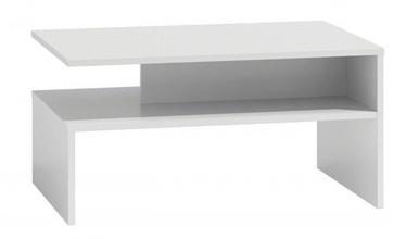Kafijas galdiņš Top E Shop Boston, balta, 900x600x450 mm