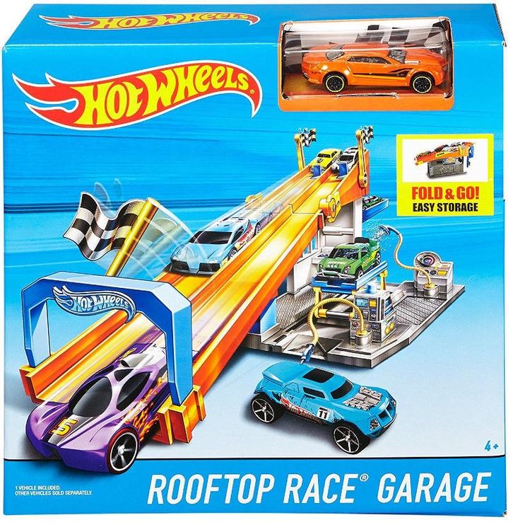 Mattel Hot Wheels Rooftop Race Garage Playset DRB29