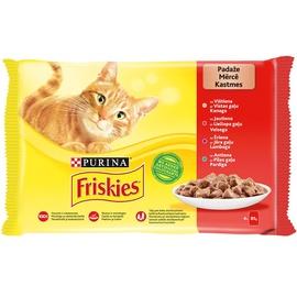 Konservai katėms FRISKIES® su mėsa, 4x85 g