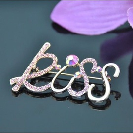 Vincento Brooch With Zirconium Crystal LD-1162