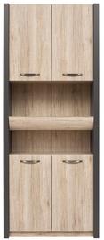 Black Red White Shelf Executive VI Grey/San Remo Oak