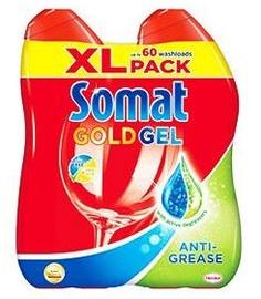 Жидкость для посудомоечной машины Somat Gold Anti Grease Gel, 2x684 мл