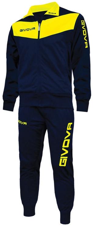 Спортивный костюм Givova Visa Navy Yellow 3XS
