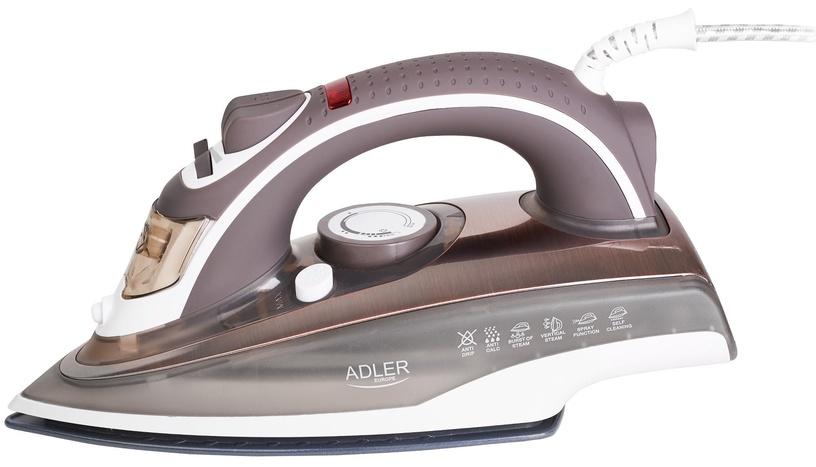 Утюг Adler Steam AD 5030, коричневый/белый