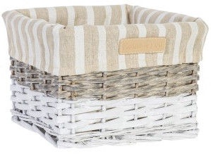Home4you Basket Max 4 22x22xH15cm White/Gray