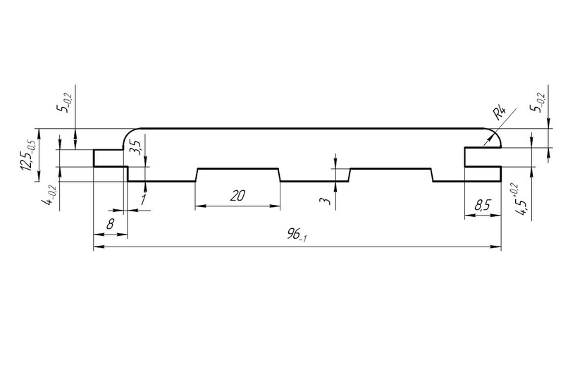 Элемент отделки, 3000x96x12.5 мм