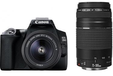 Canon EOS 250D + 18-55mm + 75-300mm Kit Black