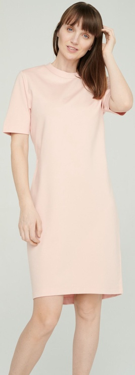 Audimas Stretch Short Sleeves Dress Pink S