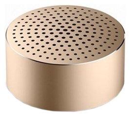 Belaidė kolonėlė Xiaomi Mi Portable Aluminium Round Box Champagne Gold, 2 W