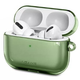 Usams US-BH570 Ultra-Thin Protective Cover For Apple Airpods Pro Transparent/Green