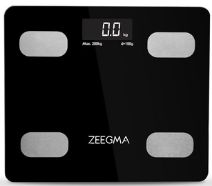 Zeegma Gewit Bathroom Scale Black