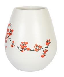 Vaas Home4you Yoko Flowers White, 210 mm
