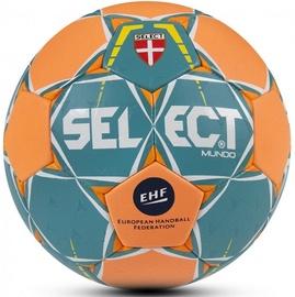 Select Mundo Senior Handball Green/Orange Size 3