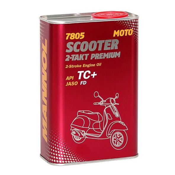 Motociklo variklio tepalas Mannol Scooter 2-Takt Premium, 0W-30, 1 l