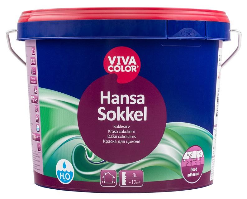 Krāsa cokoliem Vivacolor Hansa Sokkel A, 2.7 l
