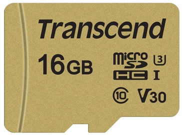 Mälukaart Transcend MicroSDHC 16GB CL10 UHS-I U3 Up to 95MB/S +Adapter