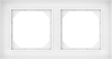 Dvivietis rėmelis Vilma QR1000, baltas stiklas