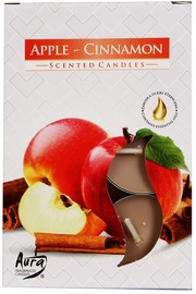Aura Candles Tea Lights Apple/Cinnamon 6pcs