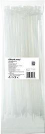 Qoltec Zippers Nylon UV 4.8x300mm 100pcs. White