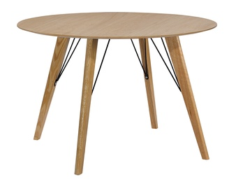 Pusdienu galds Home4you Helena Oak, 1000x1000x750 mm
