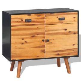 Шкаф VLX Solid Acacia Wood, коричневый, 90 см x 33.5 см x 83 см
