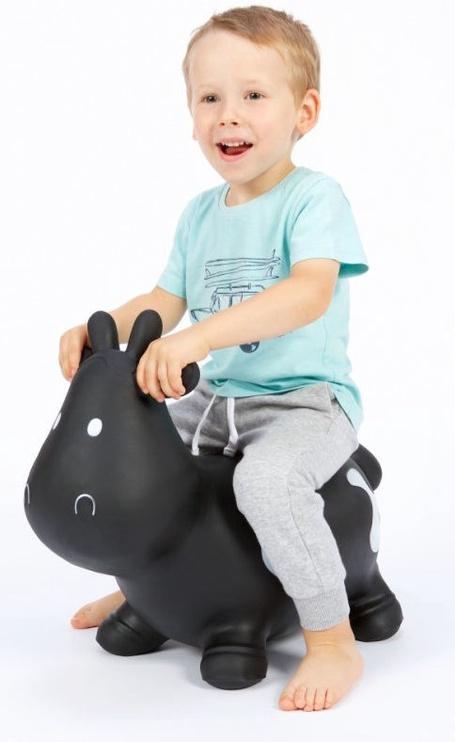 Tootiny Hoppimals Jumping Cow Black