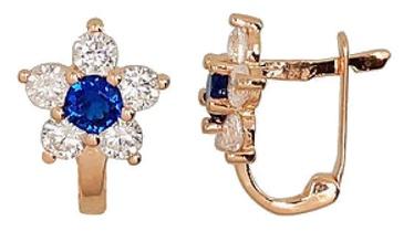Diamond Sky Gold Earrings Gold Flower XV