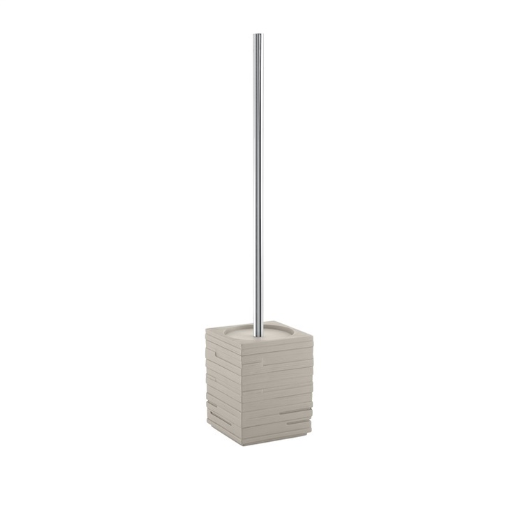 Gedy Quadrotto Toilet Brush 9.5x9.5x46cm Brown