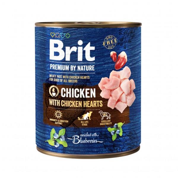 Konservuotas ėdalas šunims Brit Premium with Chicken 800g