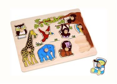 Lavinamasis žaislas, Afrikos gyvūnai, medinis