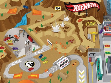 TCG Hot Wheels Play Mat With Vechile 30737