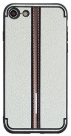 Mocco Trendy Grid And Stripes Pattern Back Case For Apple iPhone 7 Plus/8 Plus White