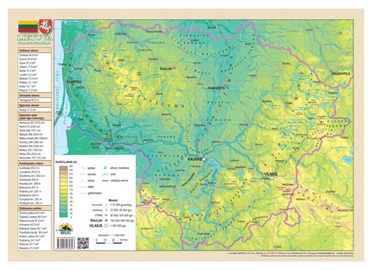 Lietuvos administracinis ir gamtinis žemėlapis