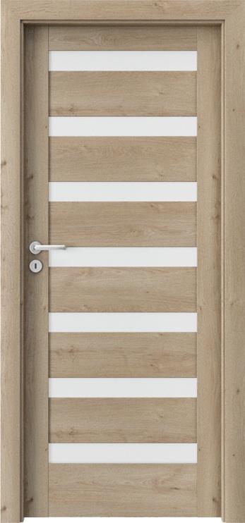 Полотно межкомнатной двери PORTAVERTE D7, дубовый, 203 см x 74.4 см x 4 см