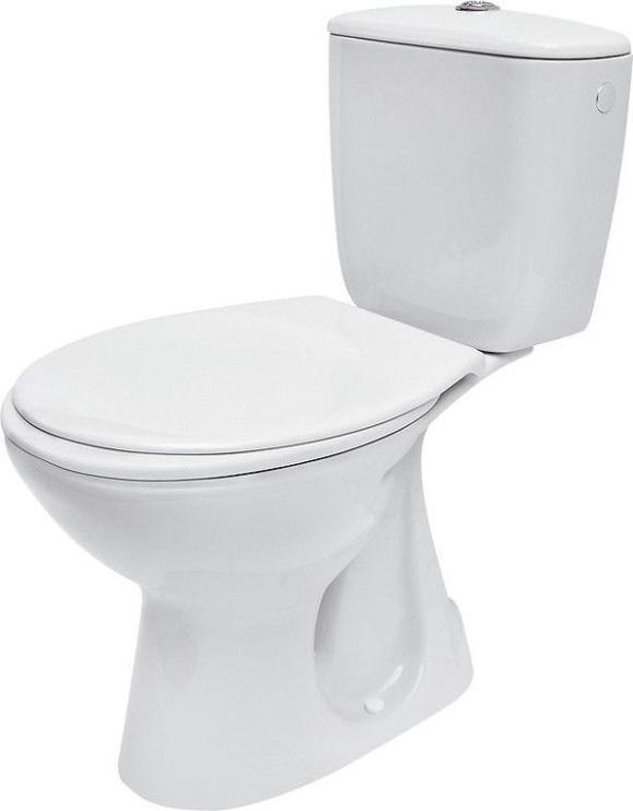Tualete Cersanit President Compact, ar vāku, 365 mm x 645 mm