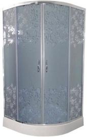 Dušikabiin Vento Tivoli Corner, poolümar, aluseta, 800x800x1850 mm